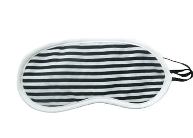Cina Black White Stripes Night Travel Eye Cover Dengan Fabric Fabric Rajutan pemasok