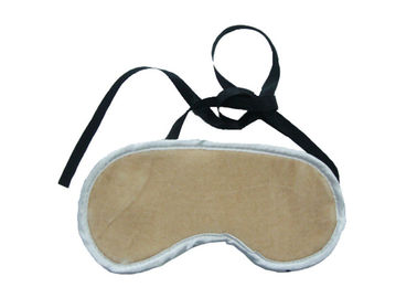 Cina Portable Brown Color Sleep Blindfold Eye Mask Dengan Plush Pendek pabrik