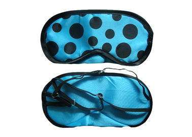 Cina Pretty Dot Pattern Blue Sleeping Eye Shades, Adjustable Thin Elastics eye cover untuk tidur pabrik