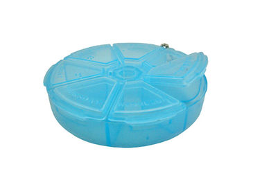 Blue Color Plastic Travel Storage Box 7 Day Pill Box Organizer For Outdoors