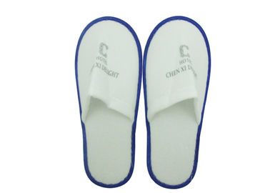 Cina Brushed Fabric Disposable Anti Skid Airline Slippers Hotel White Disposable Slipper pabrik